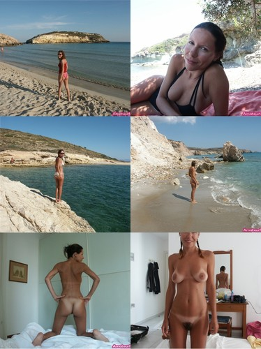 Hot Milf with Tanned Saggy Tits