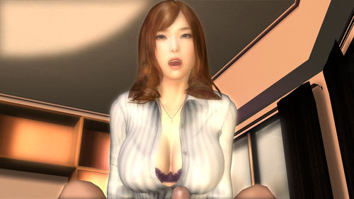 hot girlfriend cleavage hentai game