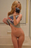 Selfie in the mirror girls without panties