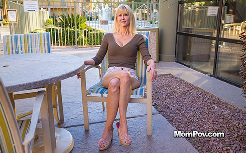 MomPov - Cait (Busty Blonde Cougar Does First Porn)