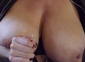 Chesty Milf Jerking Cock
